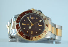 Load image into Gallery viewer, Rolex GMT 1675 Stainless Steel & Gold Root Beer Dial