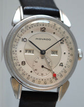 "Load image into Gallery viewer, Movado ""Calendograph"" with Two Tone Dial and Candy Apple Date Hand"