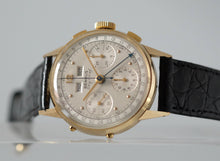Load image into Gallery viewer, Benrus Sky Chief 14k Gold Triple Date Chronograph