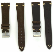 Load image into Gallery viewer, Suede Leather Watch Strap in Dark Brown