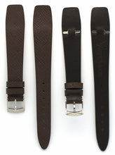 Load image into Gallery viewer, Saffiano Leather Watch Straps with Open End in Seal Brown