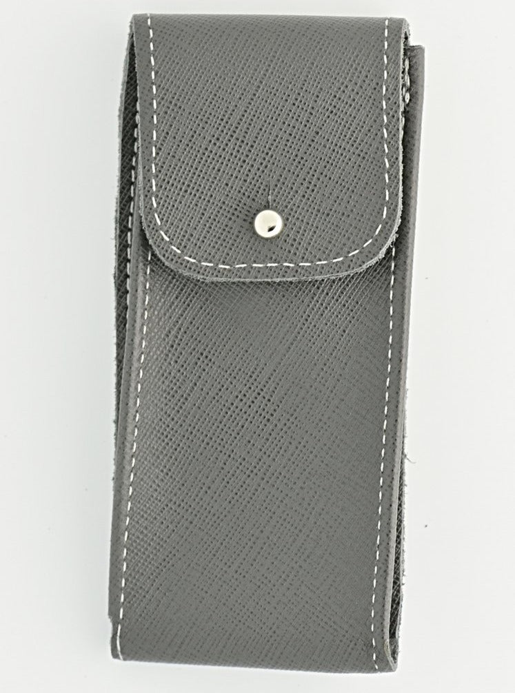 Saffiano Leather Watch Pouch in Dove Grey