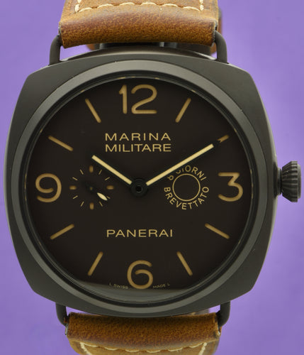 Panerai. A Special Edition Composite Wristwatch with 8 Day Power Reserve.  Model: Marina Militare 8 Giorni.  Ref: PAM339.  OP6806.