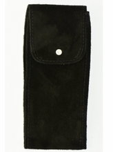 Load image into Gallery viewer, Suede Leather Watch Pouch in Black