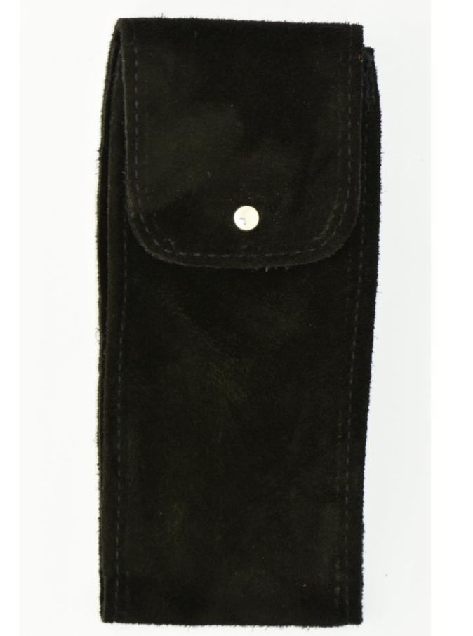 Suede Leather Watch Pouch in Black