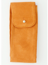 Load image into Gallery viewer, Suede Leather Watch Pouch in Turmeric