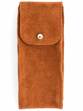 Load image into Gallery viewer, Suede Leather Watch Pouch in Tobacco