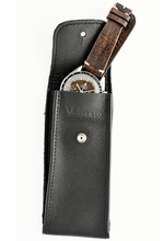 Load image into Gallery viewer, Saffiano Leather Watch Pouch in Black