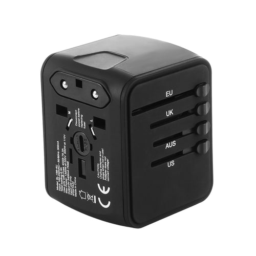 4 USB Ports Universal Travel Adapter All-In-One