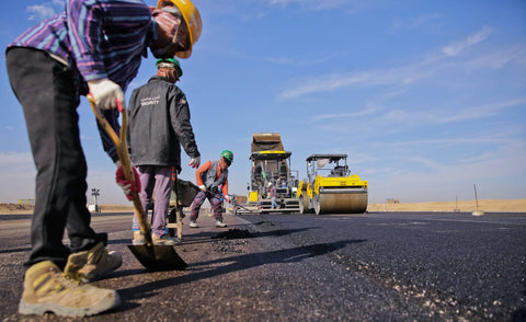 People working on road