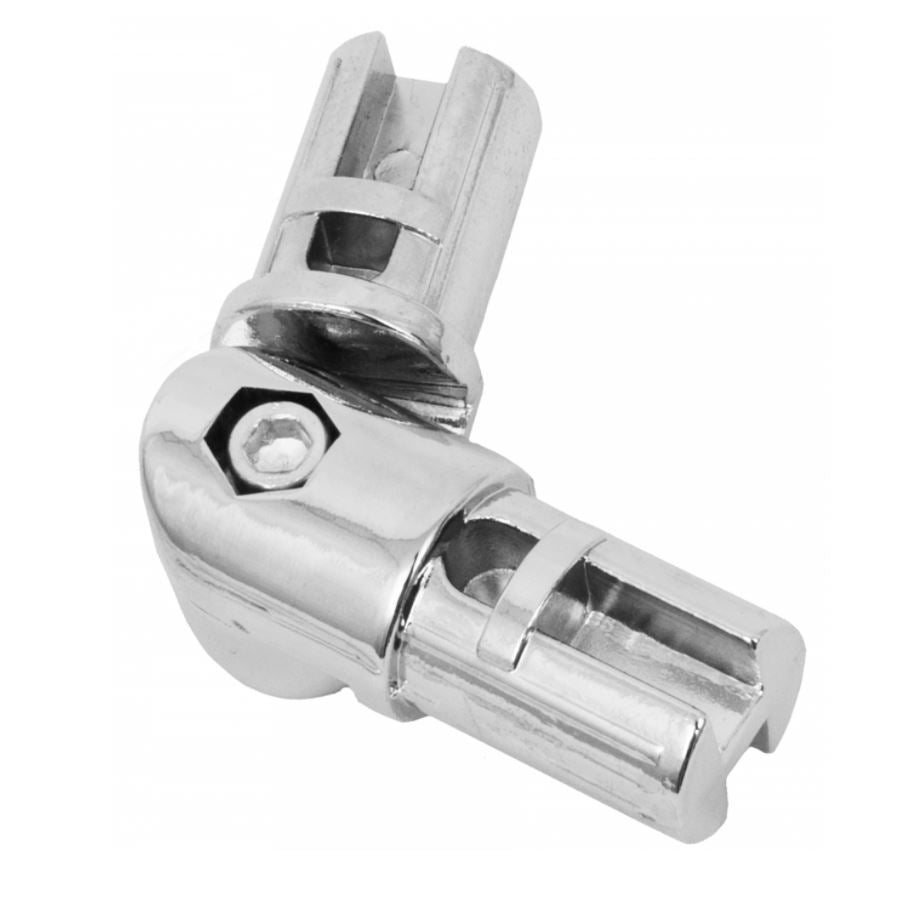 1 inch Pipe Hinge Connector, Chrome