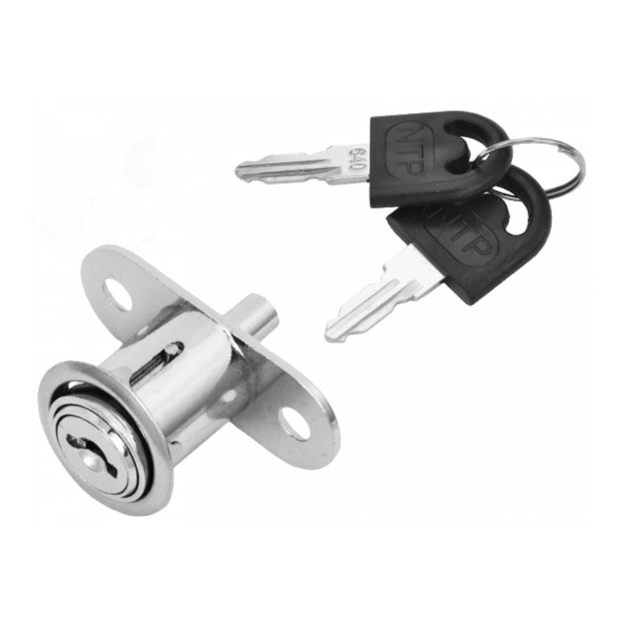 Cabinet Lock for Slidable Doors 3/4x15/16 inch, Chrome