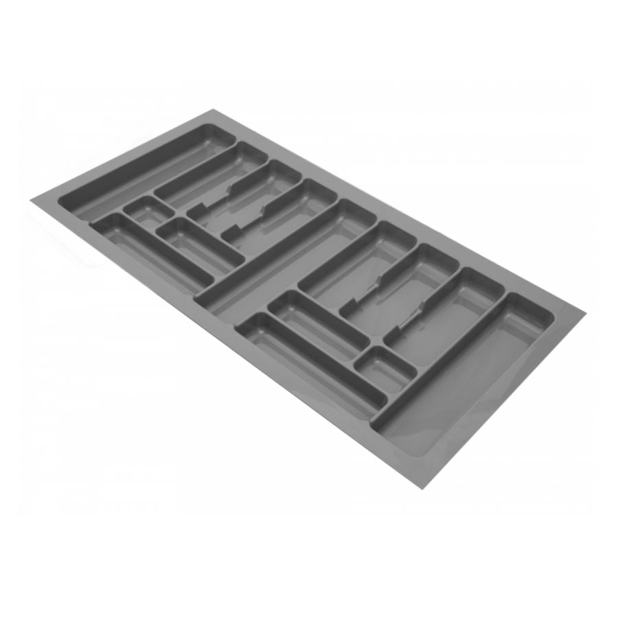 Cutlery Tray for Drawer, Cabinet Width: 1000mm, Depth: 490mm - Metallic