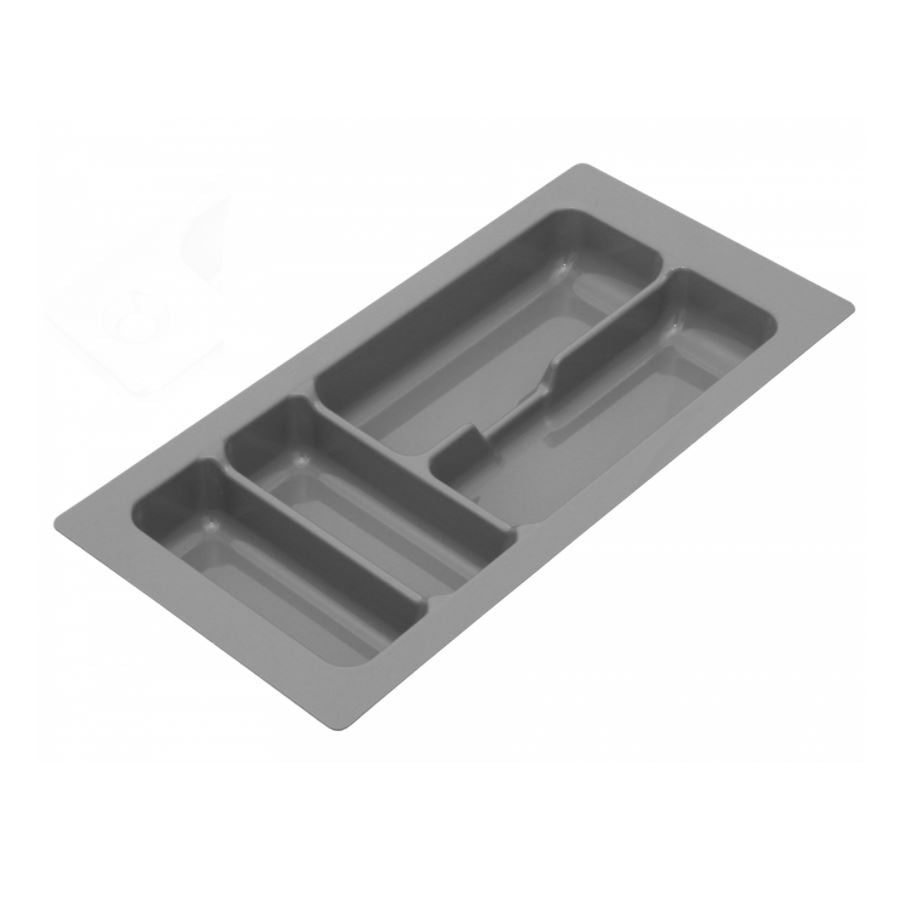 Cutlery Tray for Drawer, Cabinet Width: 300mm, Depth: 490mm - Metallic