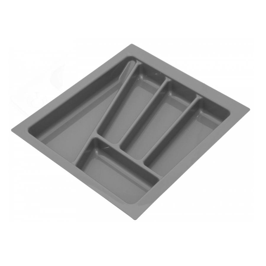 Cutlery Tray for Drawer, Cabinet Width: 450mm, Depth: 430mm - Metallic