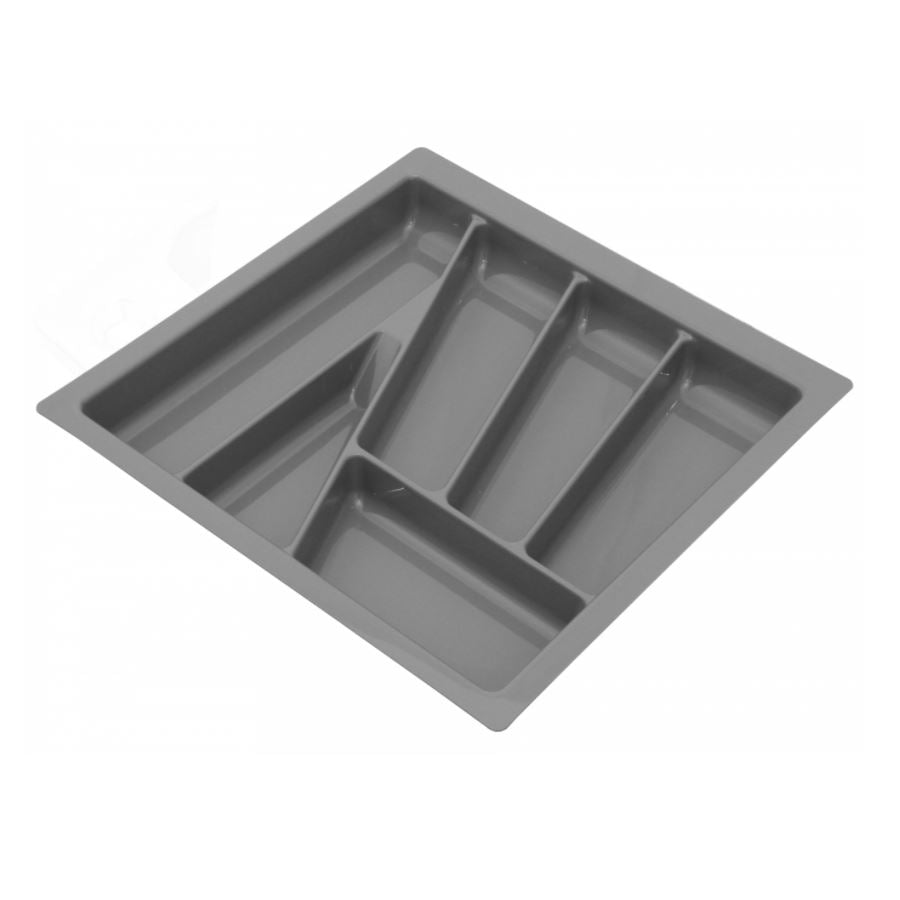 Cutlery Tray for Drawer, Cabinet Width: 500mm, Depth: 430mm - Metallic