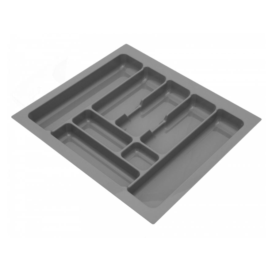 Cutlery Tray for Drawer, Cabinet Width: 600mm, Depth: 490mm - Metallic