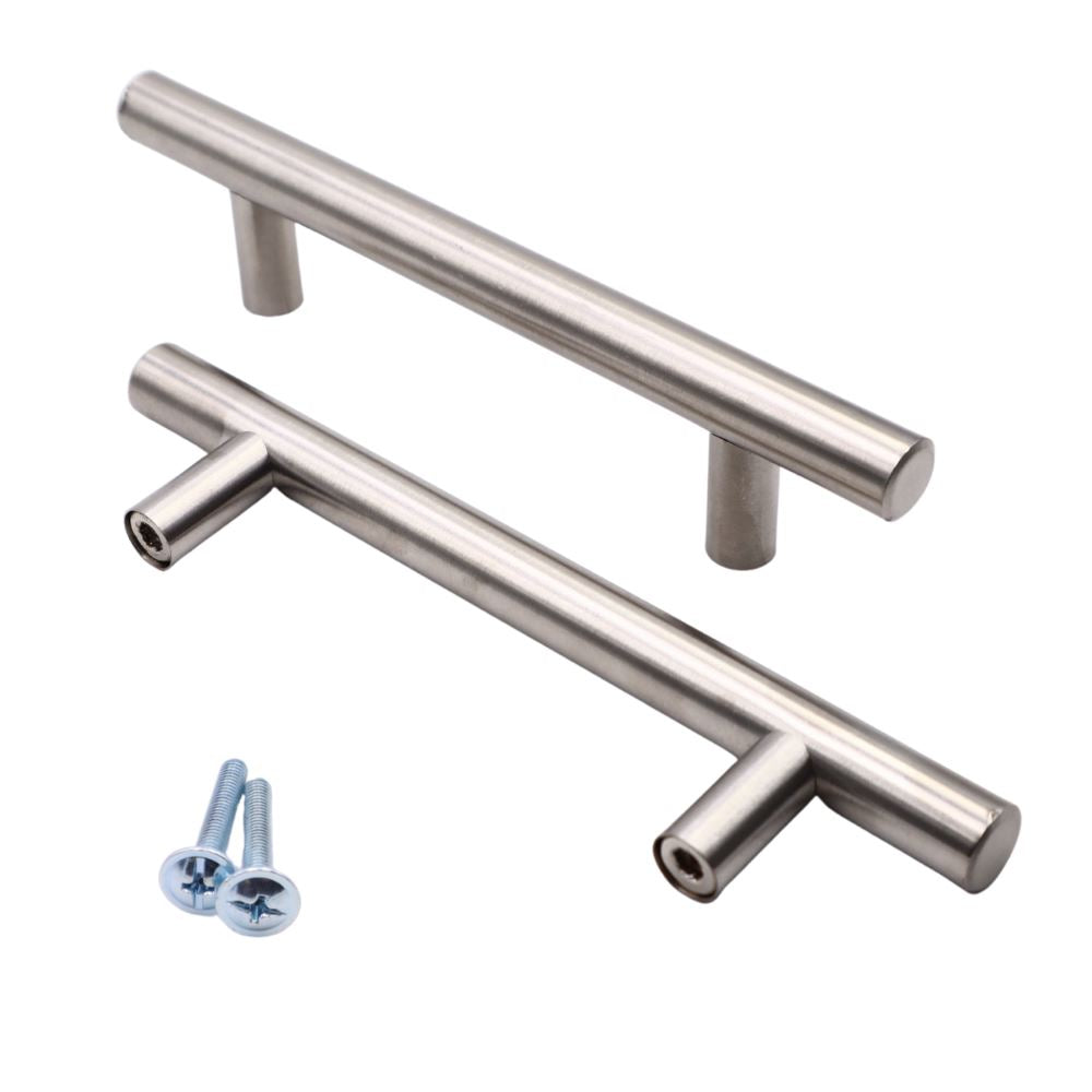 Pull handle brushed steel - 200mm