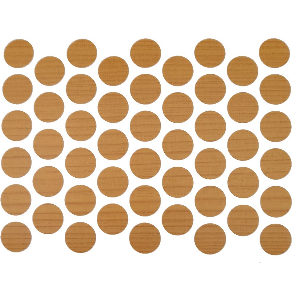 Screw cover caps Self-Adhesive - Dark Pine 9/16 inch