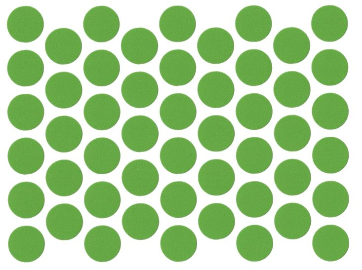 Screw cover caps Self-Adhesive - Green 9/16 inch