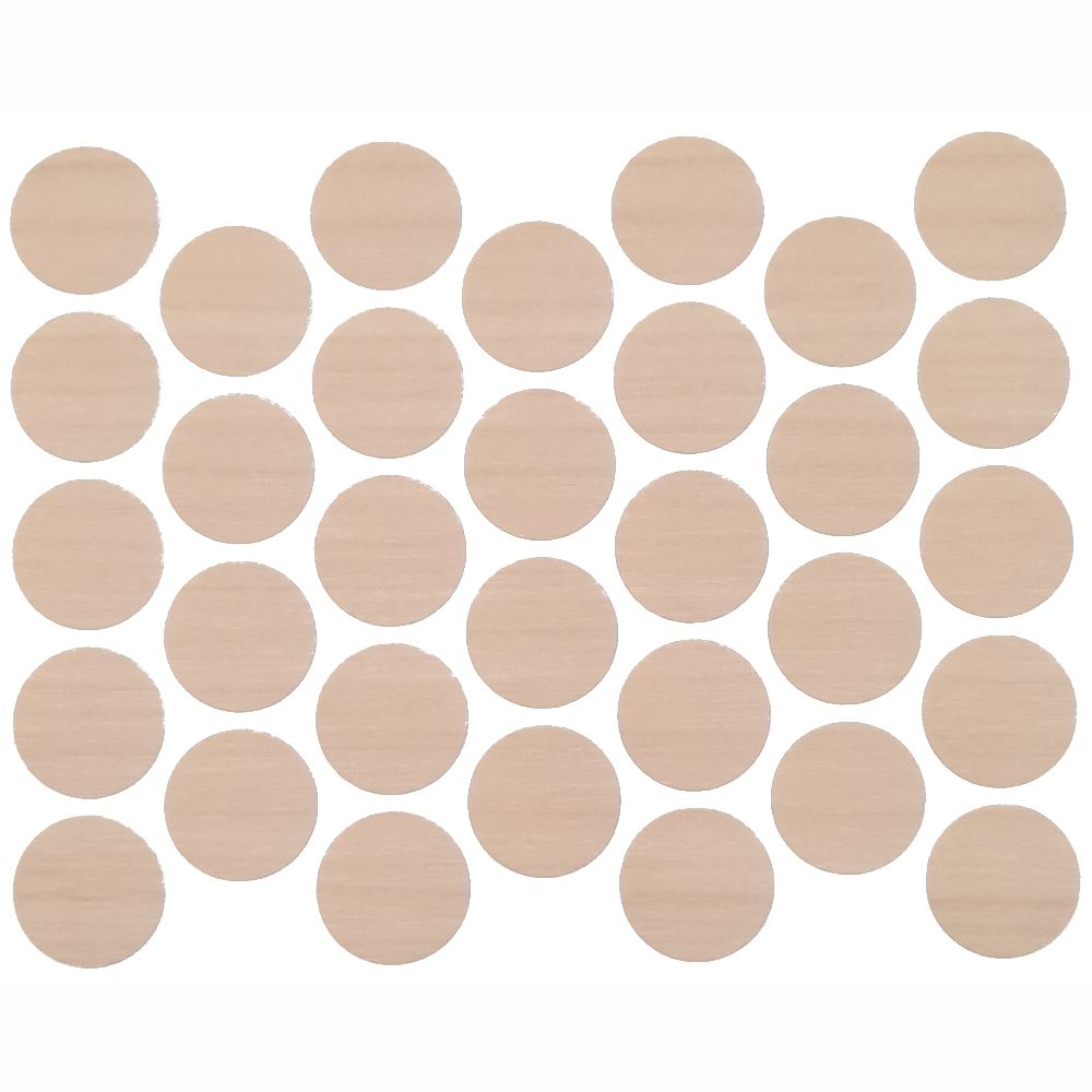 Screw cover caps Self-Adhesive - Natural Birch 11/16 inch