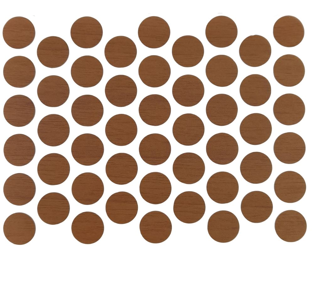 Screw cover caps Self-Adhesive - Natural Walnut 9/16 inch