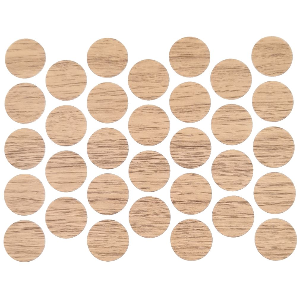 Screw cover caps Self-Adhesive - Oak Halifax 11/16 inch