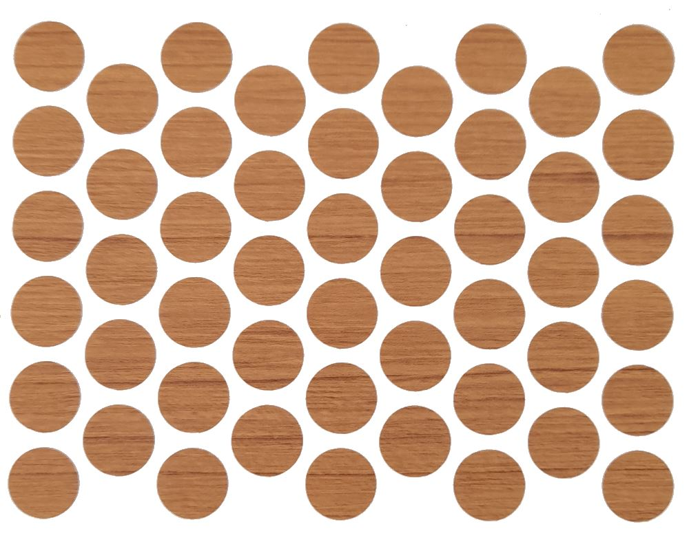 Screw cover caps Self-Adhesive - Teak 9/16 inch