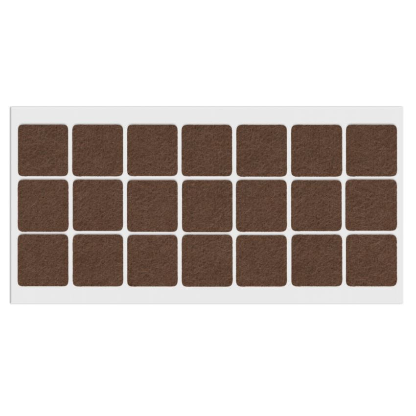Self-Adhesive Felt Pad 1-3/16x1-3/16 inch Brown