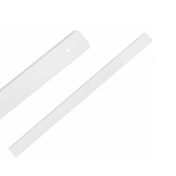 Side Strip for 38mm Worktop R-3, White Powder Coated Aluminium