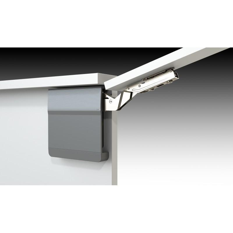Soft Close Top Cabinet Lift System (L+R), Grey/Nickel