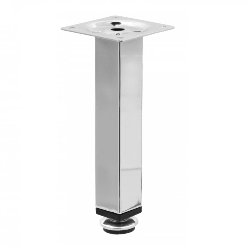 Square Furniture Leg 1x1 inch - H 5-7/8 inch Chrome