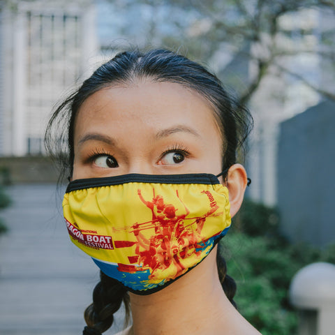 2008 Canadian International Dragon Boat Festival 2-Layer Fabric Face Mask