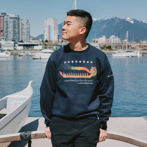 1989 Canadian International Dragon Boat Festival - Black Crewneck Sweatshirt