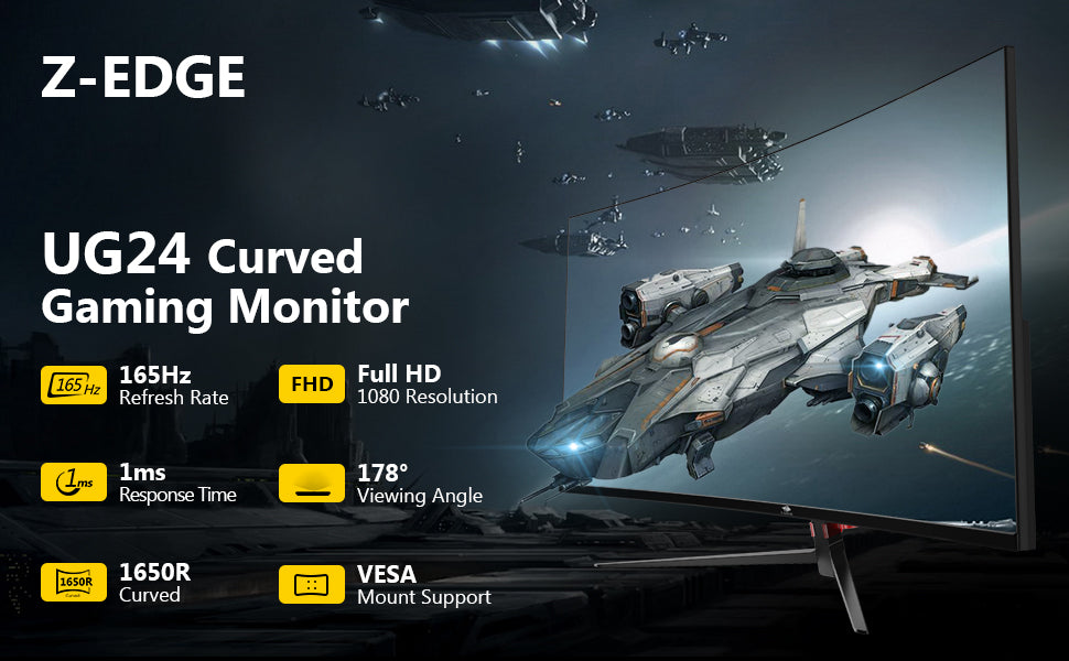 Z-EDGE UG24 24-inch Curved Gaming Monitor