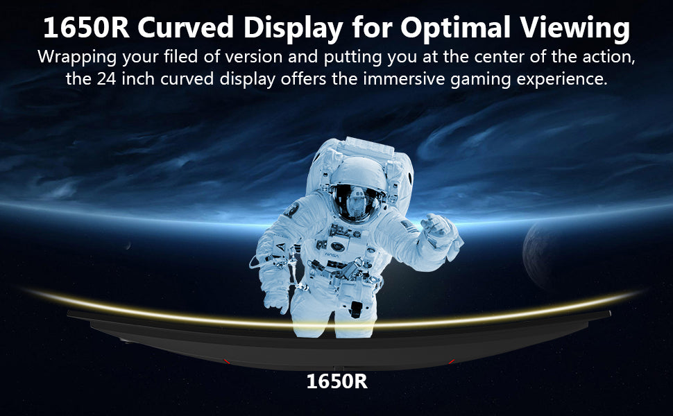 Z-EDGE Monitor UG24 1650R Curved Display for Optimal Viewing