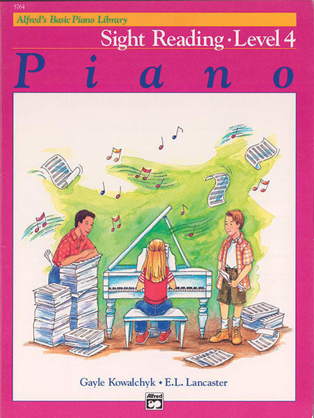 Alfred's Basic Piano Course: Sight Reading Book 4 Cover