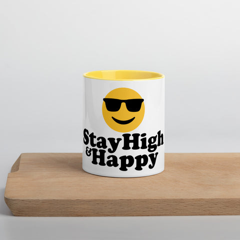 STAY HIGH & HAPPY Mug with Color Inside