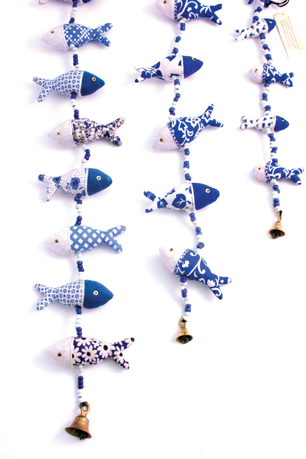 Blue & White Fish String
