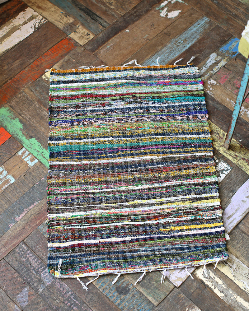 Upcycled Chindi Rug - Multi Coloured