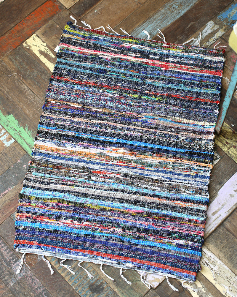 Load image into Gallery viewer, Upcycled Chindi Rug - Multi Coloured