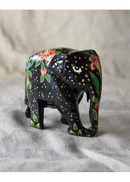 Load image into Gallery viewer, Paper Mache Elephant - Black