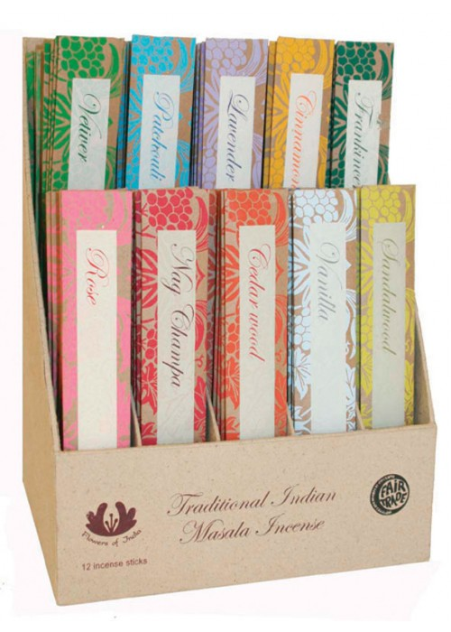 Flowers of India Incense - Set of 3 Packets