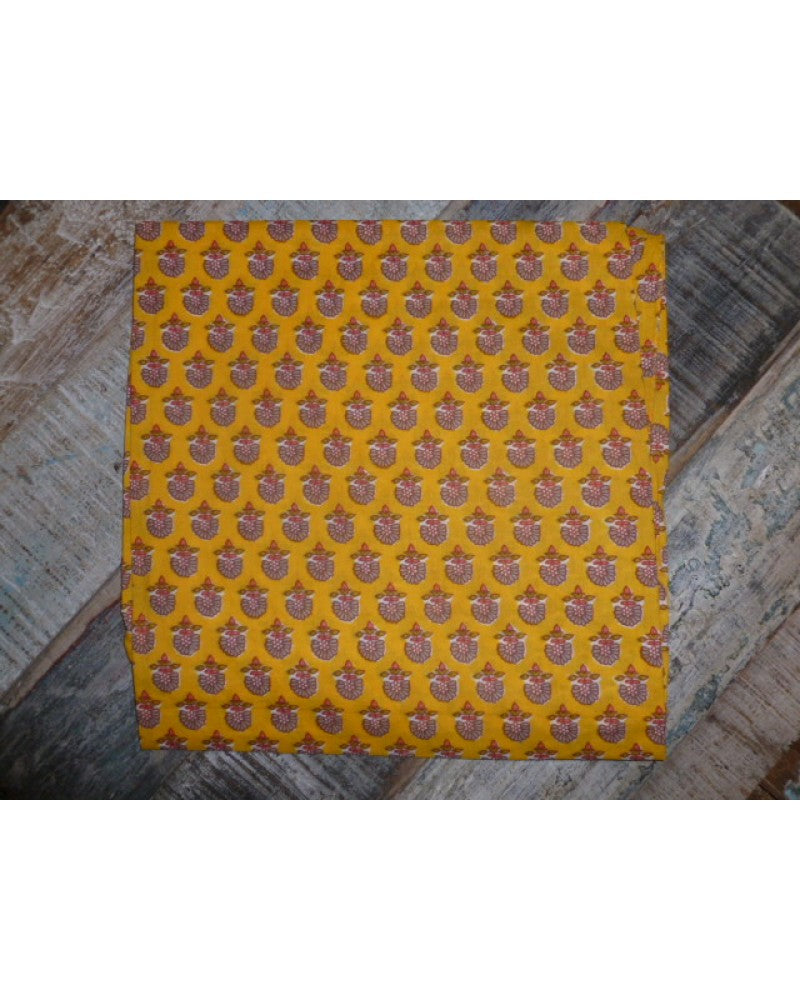 Yellow Pattern Headscarf