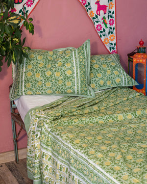 Double Bed Cover & 2 Pillow Cases