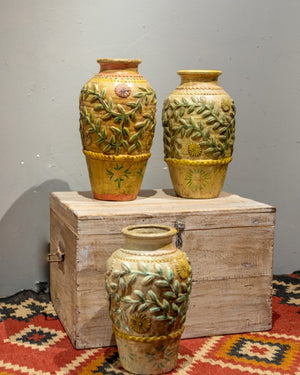 Load image into Gallery viewer, Vintage Yellow Clay Vase