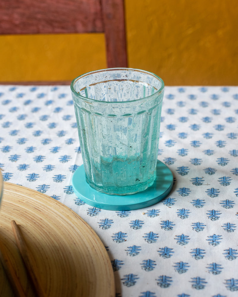Load image into Gallery viewer, Turquoise Bamboo Coaster