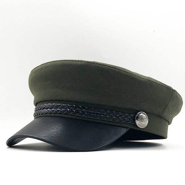 New High Quality Casual Military Cap Man Woman Cotton Beret Flat Hats Captain Cap Trucker Vintage Black Sport Dad Bone Male