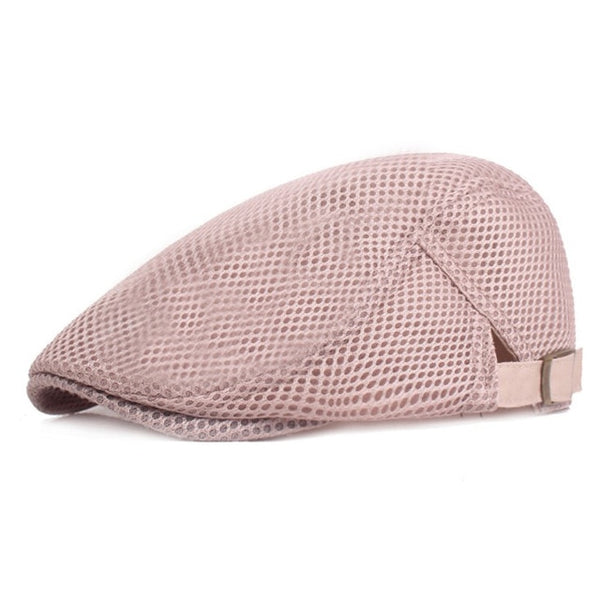 Summer Men Women Casual Beret Hat Fashion Breathable Mesh Flat Cap Newsboy Style Beret Hats  Adjustable Adjustable Caps Gorras