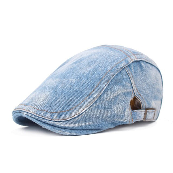 Spring and Summer Denim Beret Outdoor Travel Leisure Wild Sun Hat Fashion Forward Hat